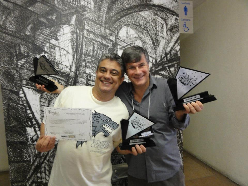 Flávio Medeiros Jr - Melhor conto e Gerson Lodi-Ribeiro, Melhor Romance e prêmio especial pelo conjunto da obra, foram os grandes vencedores na noite!